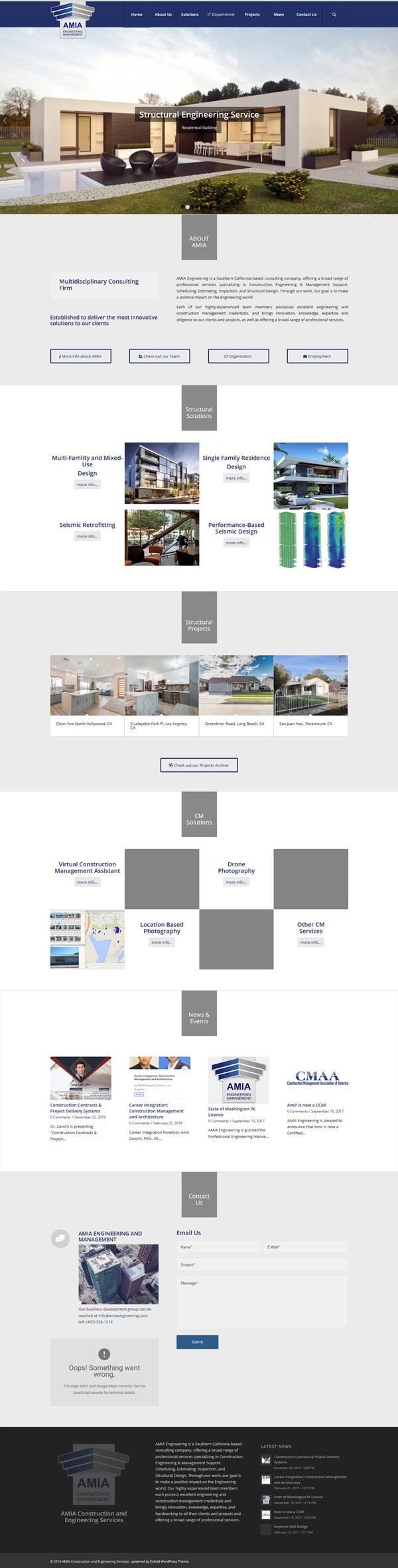 Amiaengineering webdesign of wp-cube