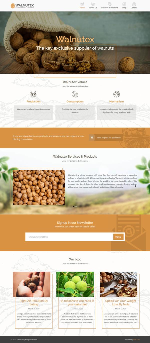walnutex-webdesign of wp-cube