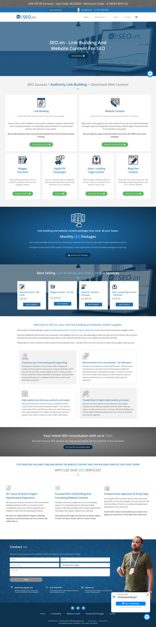 SEO-im Webdesign and develop of wp-cube