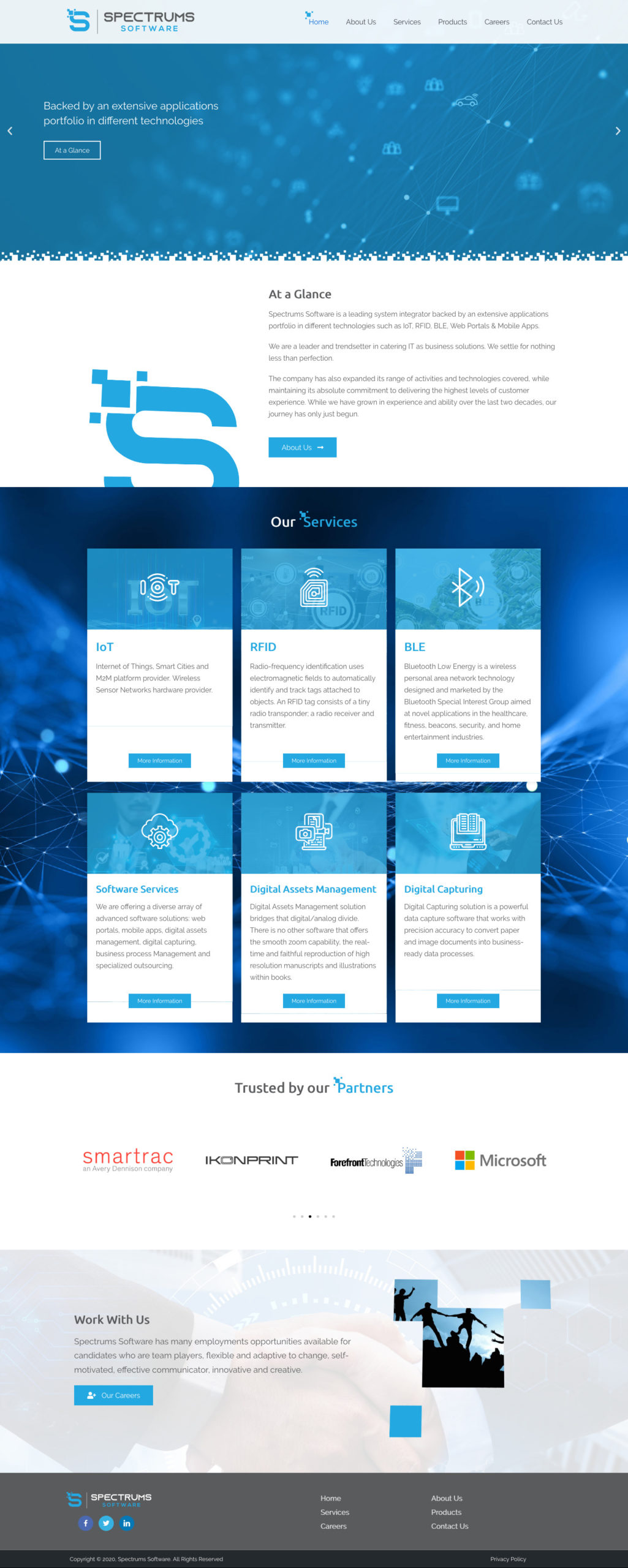 Spectrums webdesign and development of wp-cube